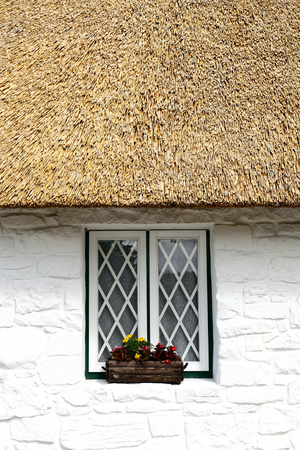 irish culture: thatched roof and window