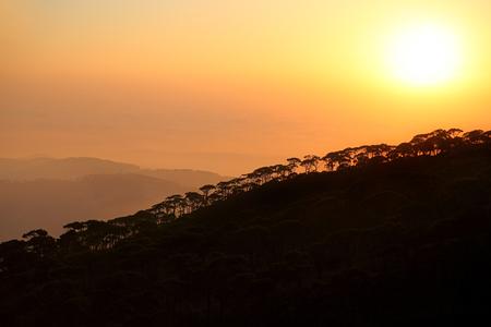 Sunset over mountains in Lebanon Stock Photo