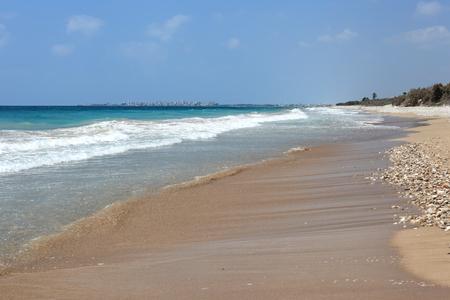 Sandy beach in southern Lebanon