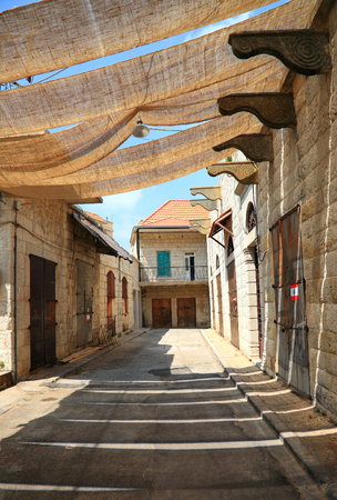The old souks in the village of Douma in the Lebanese mountains