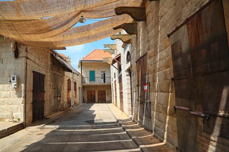 lebanese: The old souks in the village of Douma in the Lebanese mountains