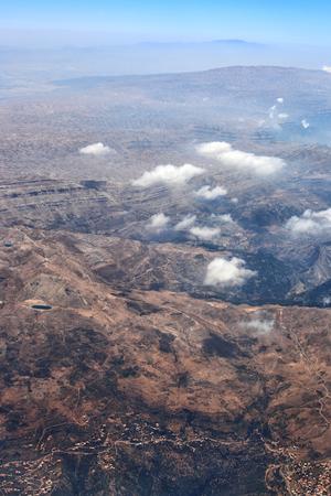 Aerial view of the Lebanon mountains Stock Photo