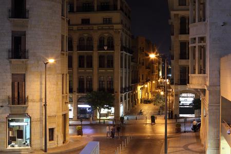 Beirut souks at night, Lebanon Stock Photo