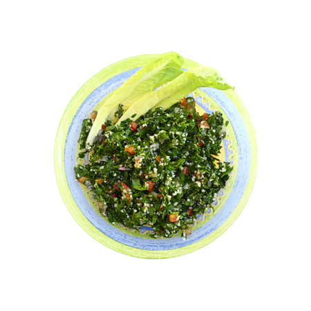 Tabbouleh Salad on a white background Stock Photo