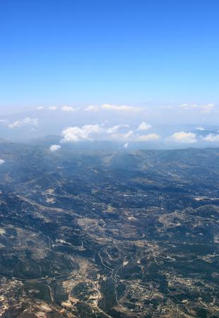 Aerial view of Lebanon mountains Stock Photo