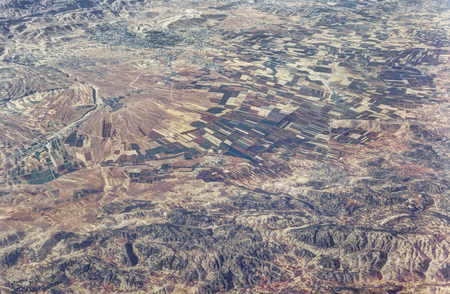 Aerial view of the Beqaa valley, Lebanon