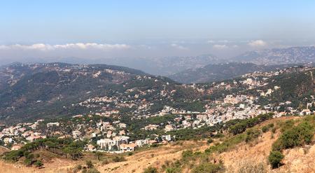 Lebanon mountain landscape at Falougha