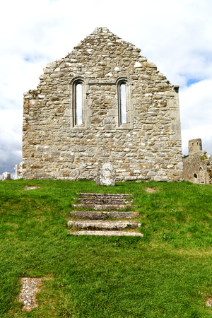 remains: Remains of Church Wall, Ireland Stock Photo