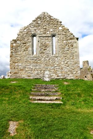 Remains of Church Wall, Ireland Stock Photo