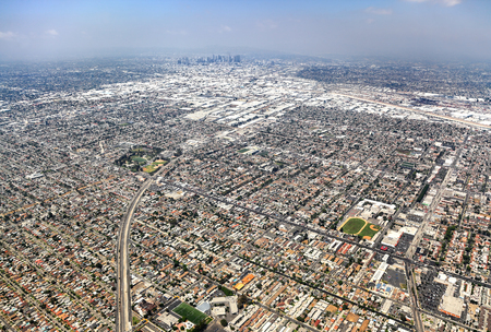 Aerial view of Los Angeles Stock Photo