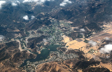 Aerial view of Lake Sherwood, California