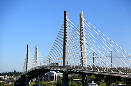 Tilikum Bridge, Portland (Oregon) Stock fotó - 87964570