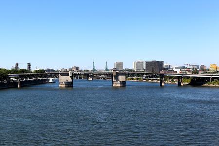 morrison: Morrison Bridge, Portland (Oregon) Stock Photo