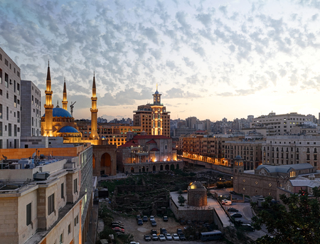Downtown Beirut at Twilight, Lebanon