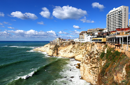 Beirut, Lebanon: Clifftop buildings at Raouche.