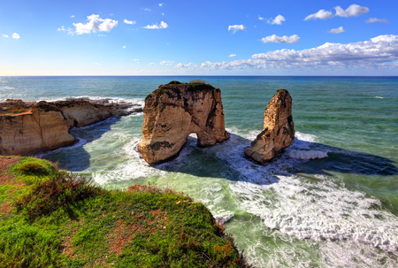 Pigeon Rocks and Dalieh, Beirut - Lebanon Stock Photo