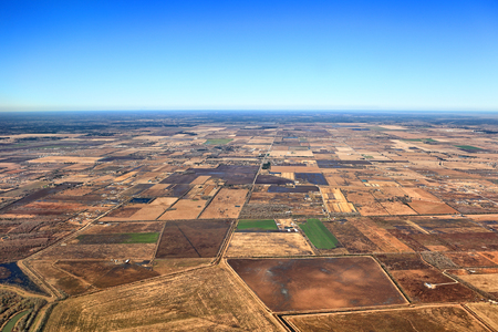 Texas Landscape Aerial View Stock Photo