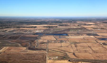 Texas Landscape Aerial View Foto de archivo