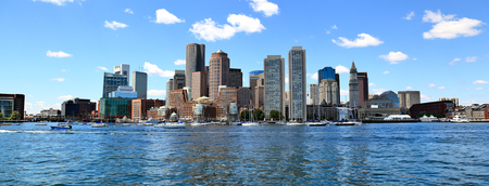 Boston Skyline 스톡 콘텐츠