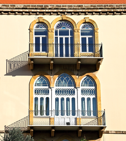 Traditional triple arch Lebanese windows and doors