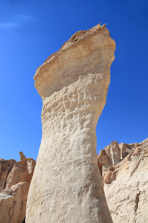 Beautiful Sandstone and Limestone formations in Saudi Arabia Stock Photo