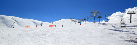 Lebanon winter ski season Kfardibian Faraya Stock Photo