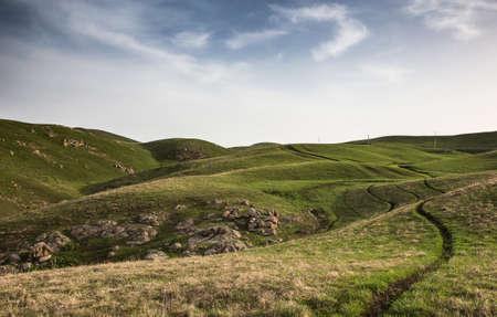 high plateau: High plateau Ushkonyr spring, Kazakhstan Stock Photo