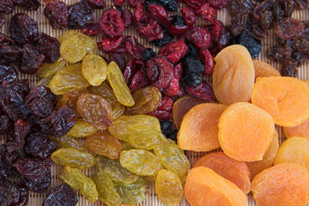 Dried fruits comprising of apricots, raisins, cherries, blueberries, sultanas & redcurrants