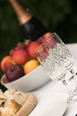 warm welcome: Champagne, fresh fruit & a warm welcome