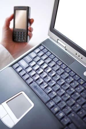 Laptop & smart phone - shallow dof