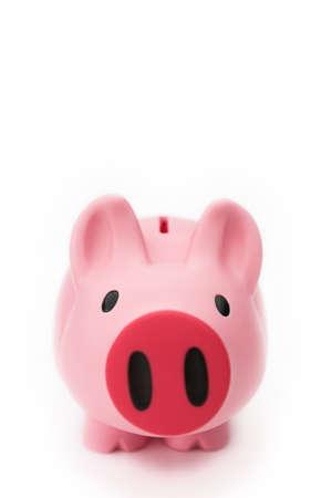 Piggy bank on white - shallow dof