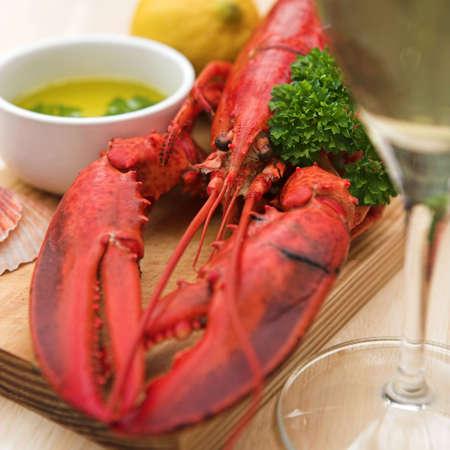 Lobster, lemon butter, parsley & fresh lemon - shallow dof