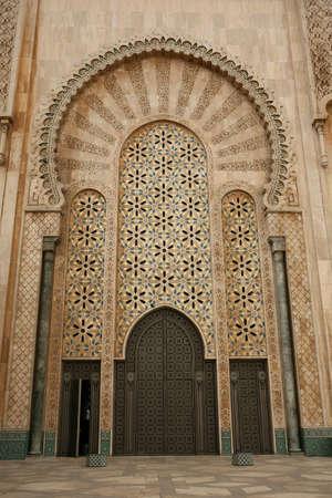 Immense doorway at the Hassan II mosque - Casablanca Stock Photo - 3583078