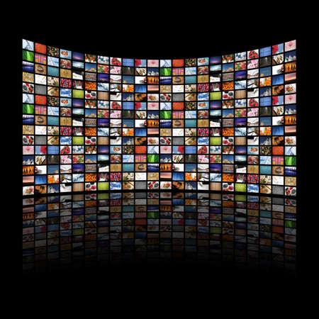 Multi media schermen weergeven van afbeeldingen / informatie - Alle afbeeldingen Daniel Gilbey