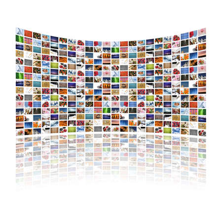Multi media screens displaying images/information - All images � Daniel Gilbey Stock Photo - 3808294
