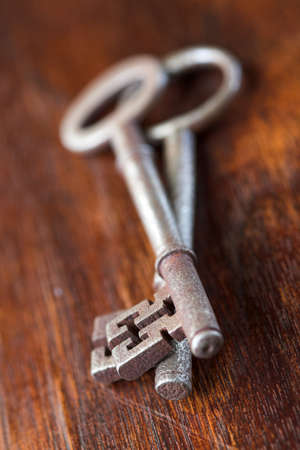 Antique keys - shallow dof photo