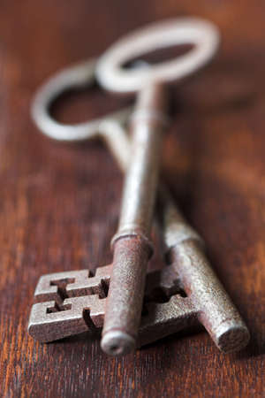 Antique keys - shallow dof Stock Photo - 9303327