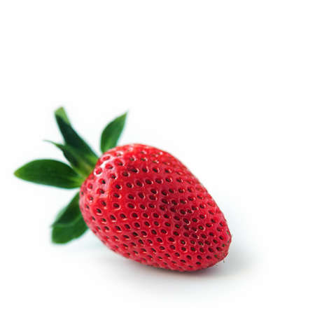 Strawberry isolated on white with a soft shadow
