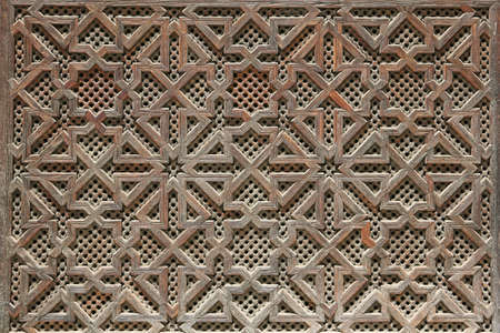Morrocan woodwork details - close up photo