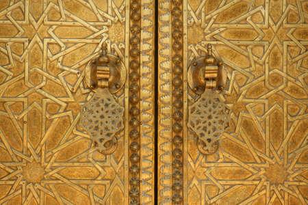 Moroccan doorway detail photo
