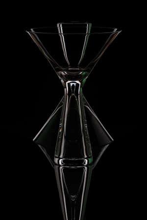 Martini glasses on black