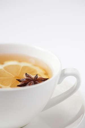 Lemon & anise herbal tea - shallow dof photo