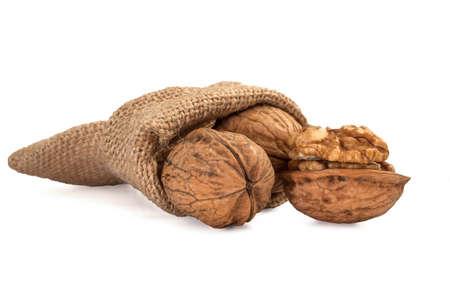 hard crust: Walnut in a bag Stock Photo