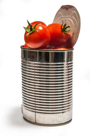 Canned tomatoes photo