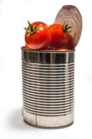 Canned tomatoes Standard-Bild