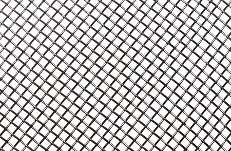 iron barred: Nice grey steel grid over a white background