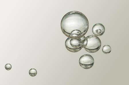 背景をぼかした写真に素敵な小さな気泡します。 写真素材