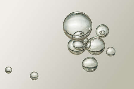 Nice small air bubbles over a blurred background