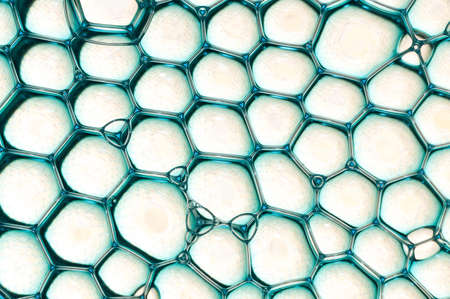 lattice: Beautiful blue bubbles pattern over a ligth brown lattice