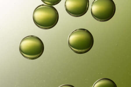 bubble acid: A group of green air bubbles